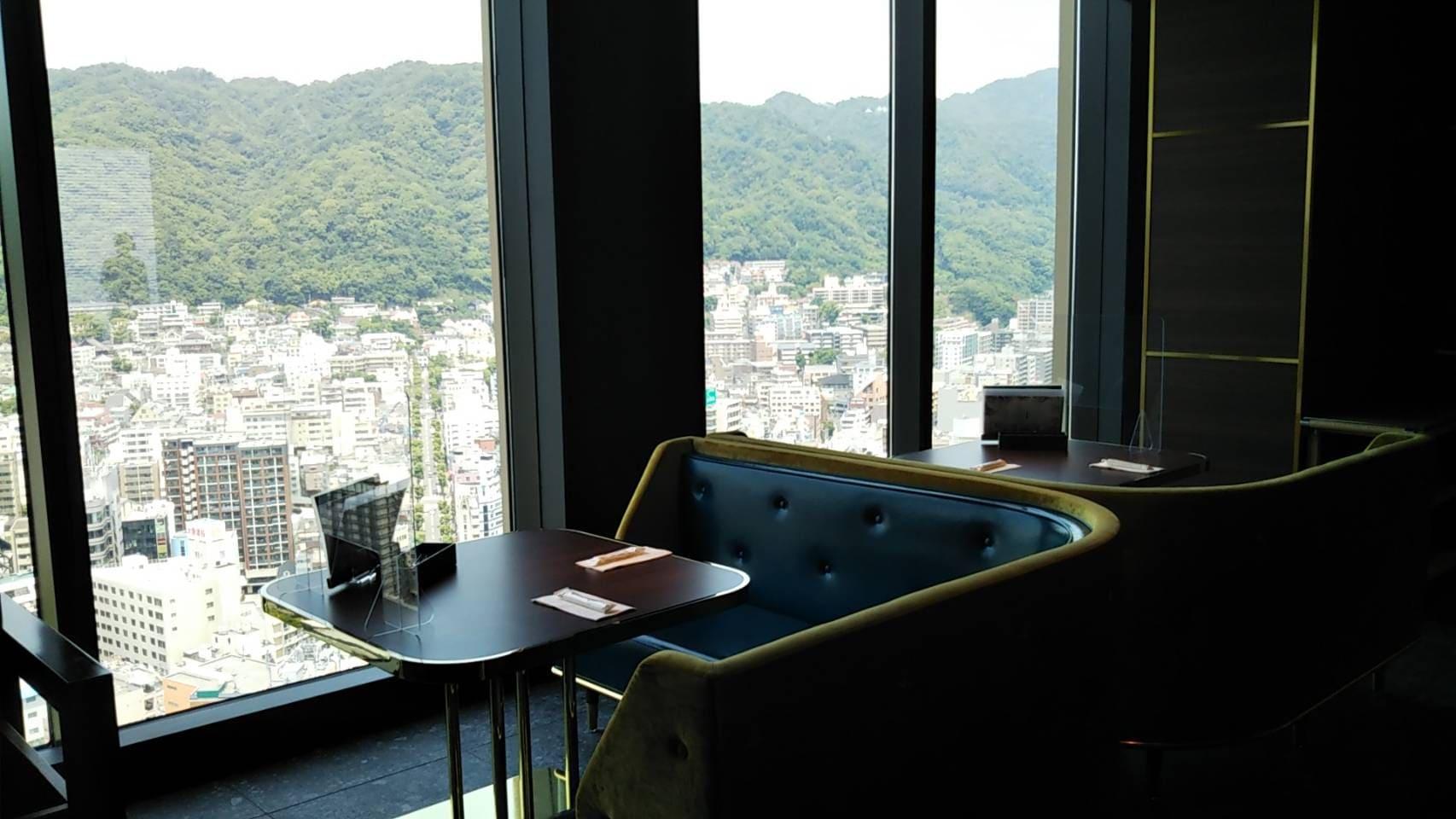 レストラン望海山からの眺望 山側の景色