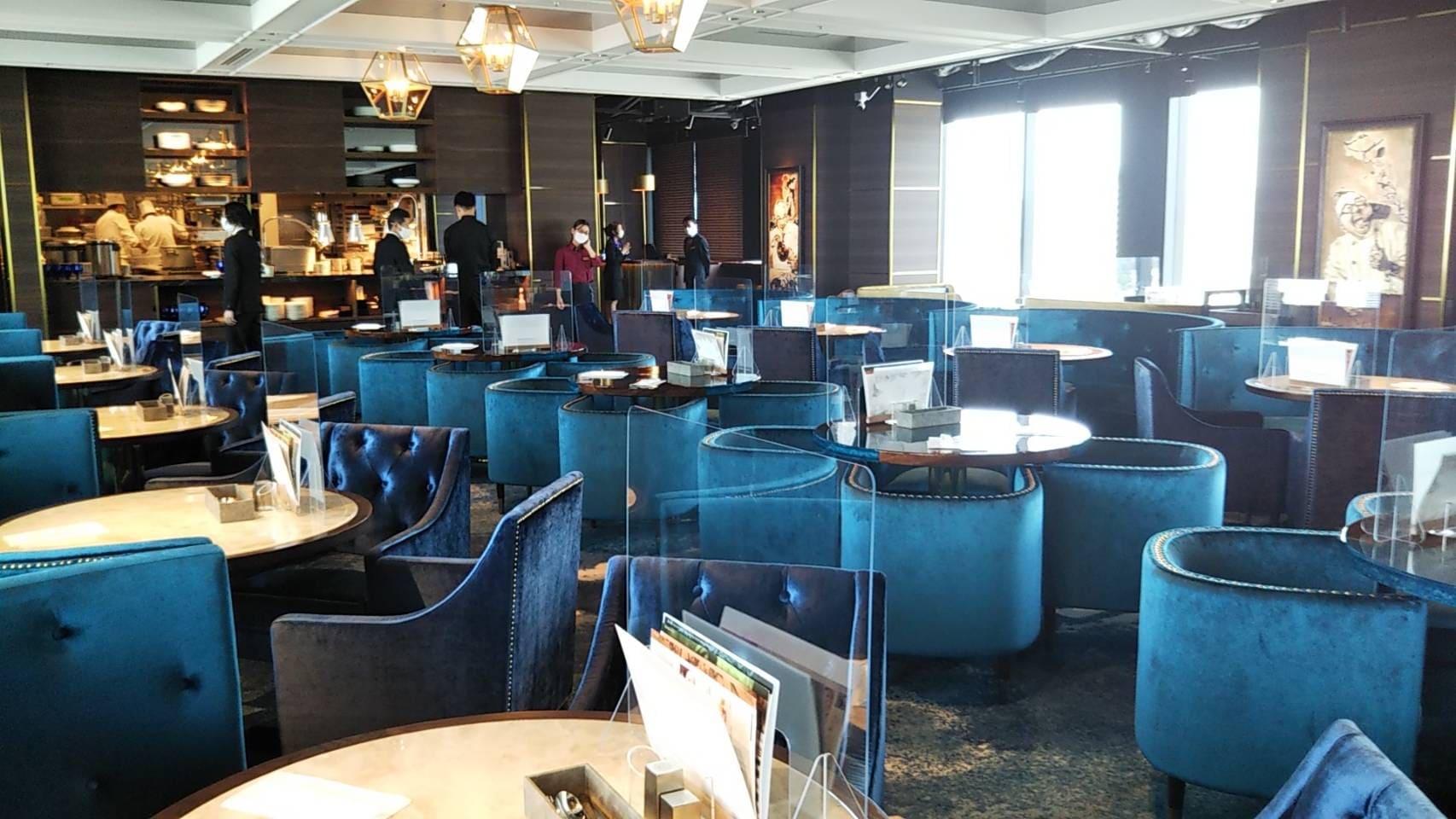 レストラン望海山の中央ブロック席