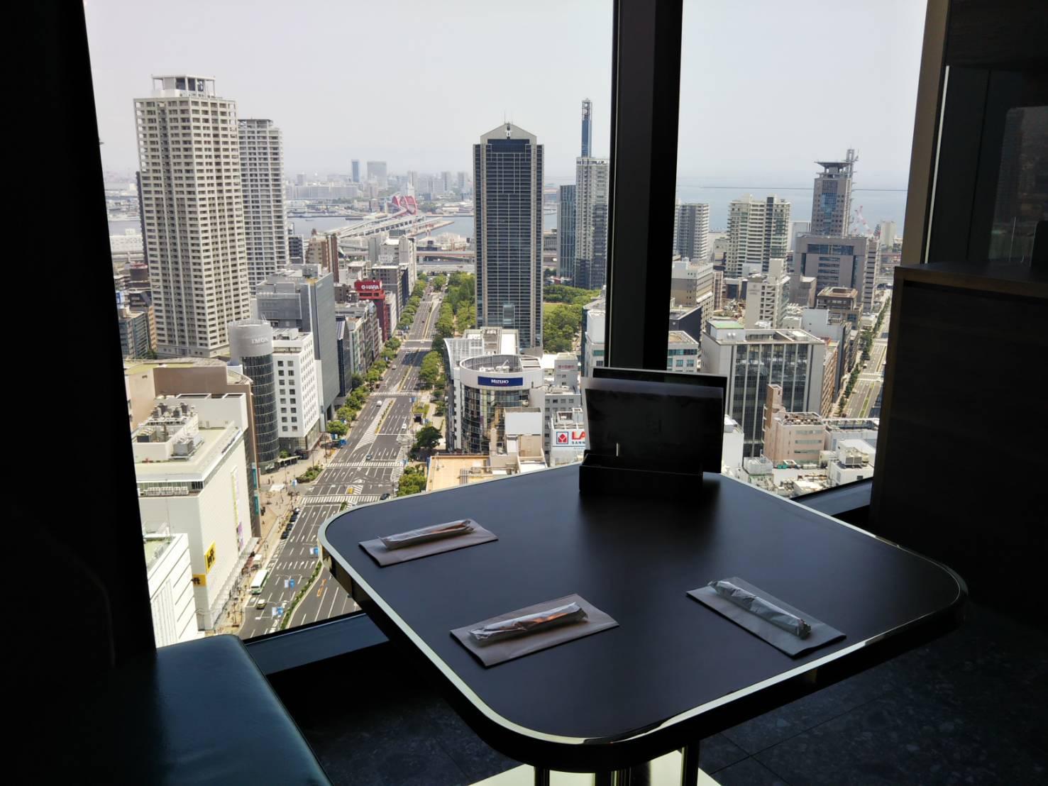 レストラン望海山の眺望 海側の景色