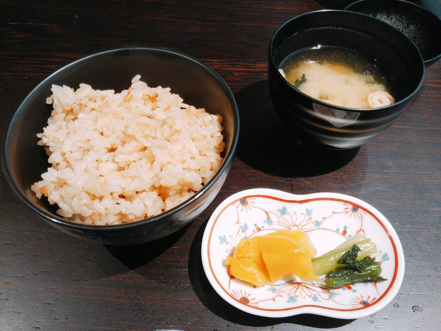 新生姜のご飯 お味噌汁 お漬物