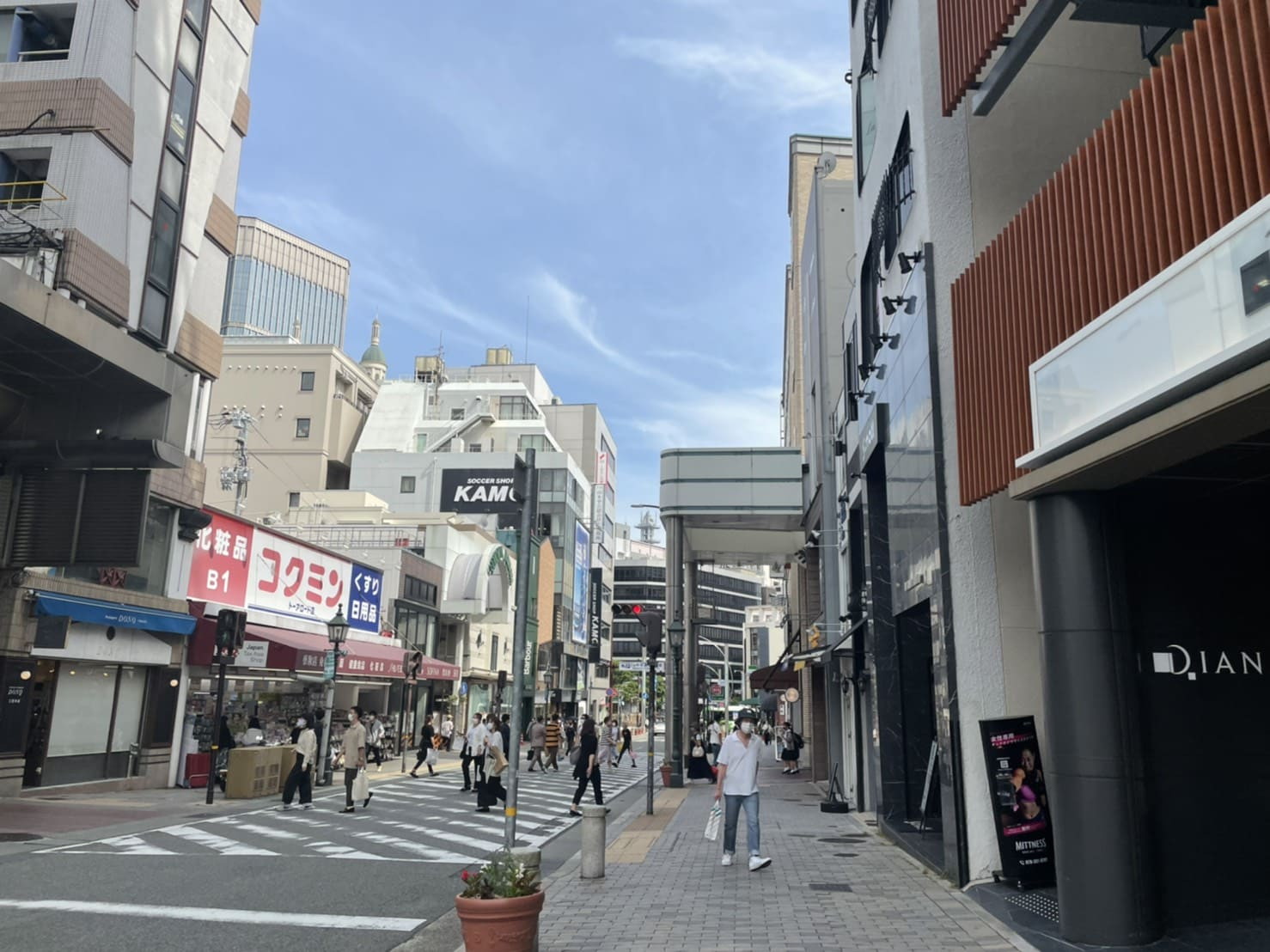 神戸BAL前の横断歩道