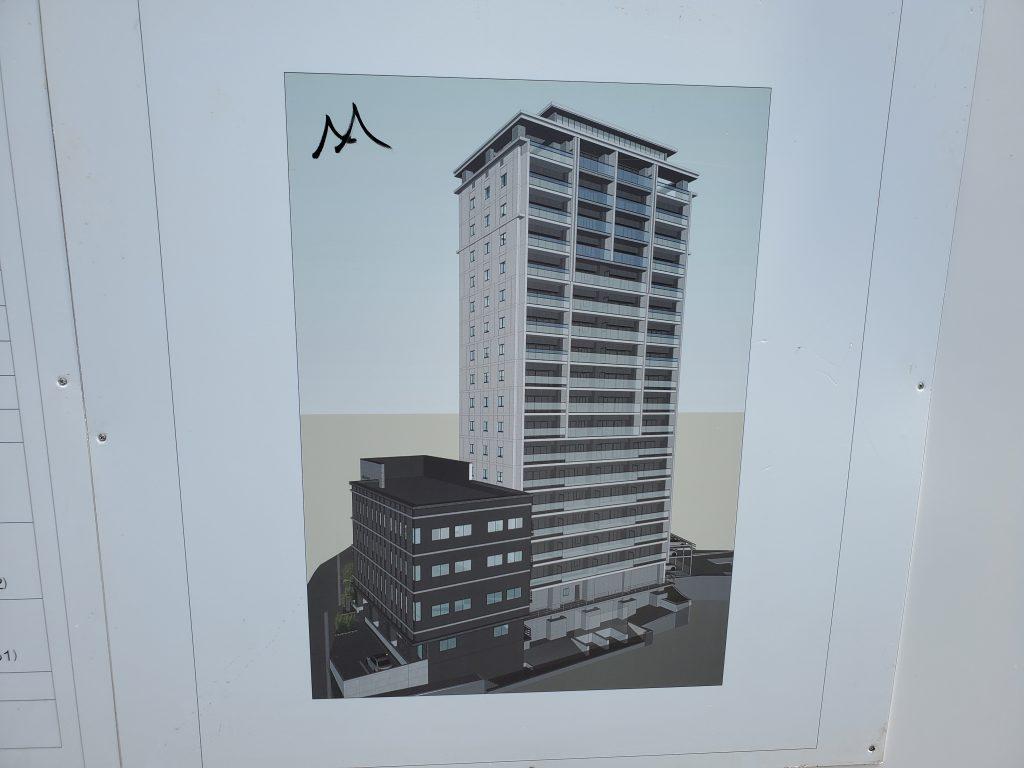 建物の外観完成予想図です。