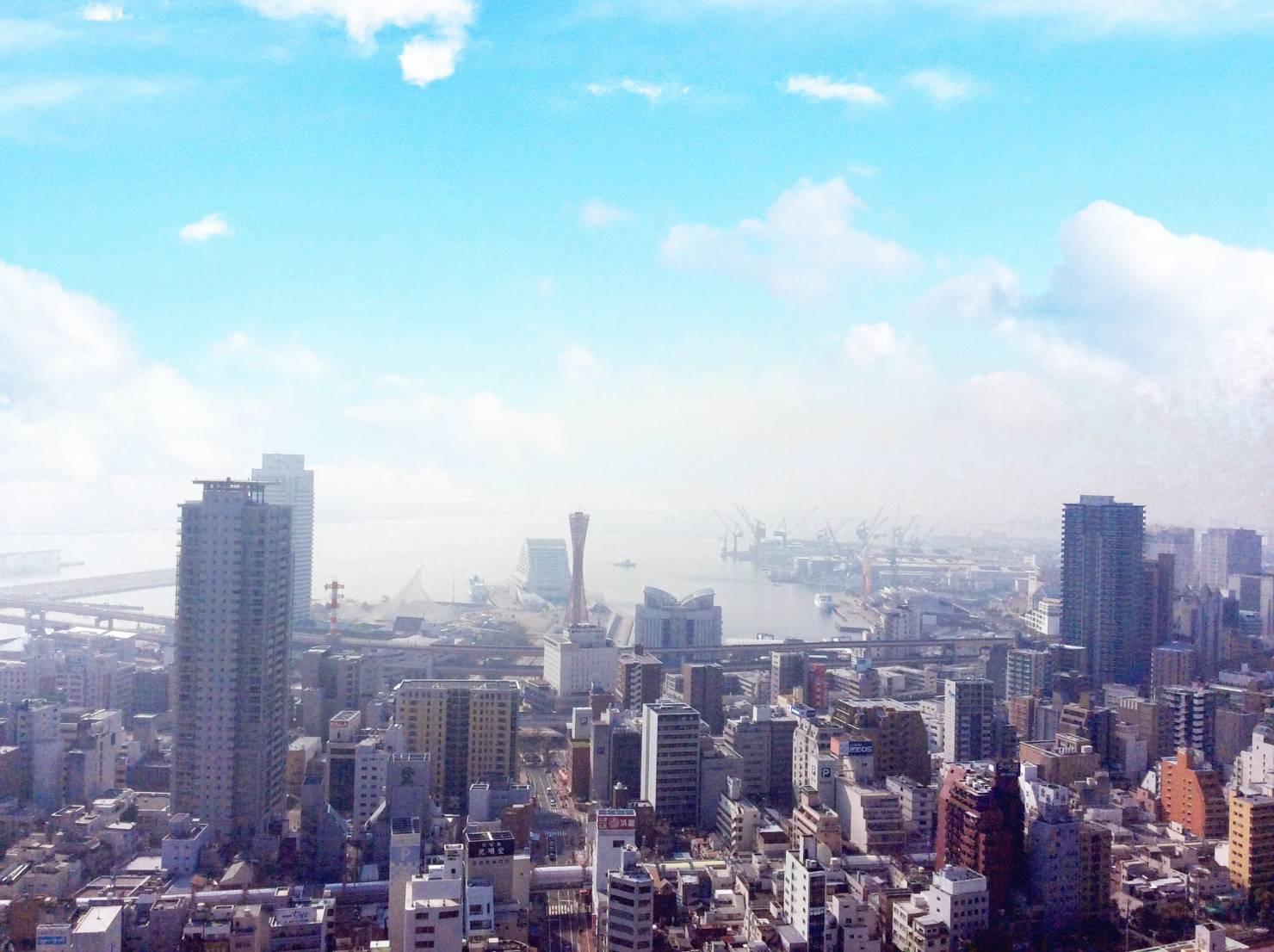 代表的な神戸のタワーマンションから望める海眺望 その1