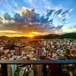 代表的な神戸のタワーマンションから望める山眺望